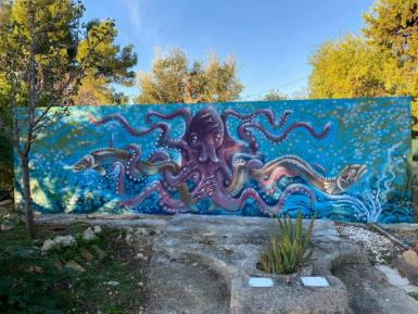 Magical Octopus painting by David Goode-Hill