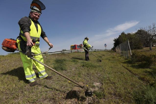 Maintenance work on the roads of Mallorca