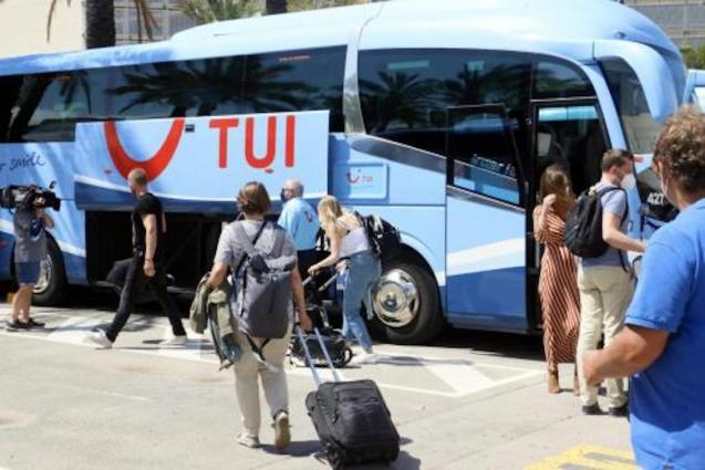 Tourists Arriving in Palma.