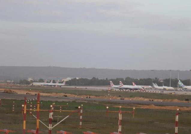 British Airways planes parked at Palma airport