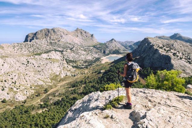 Spectacular view of the Serra de Tramuntana mountains.