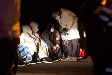 Migrants rescued in the Canary Islands.