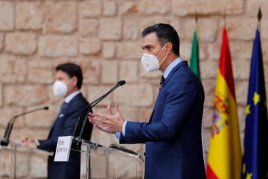 Pedro Sánchez, speaking in Palma after the Spain-Italy summit.
