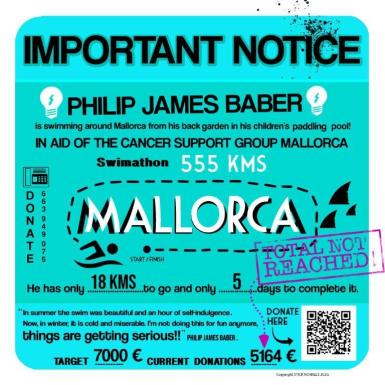 """Call for a final """"dig deep"""" for Cancer Support Mallorca funds."""