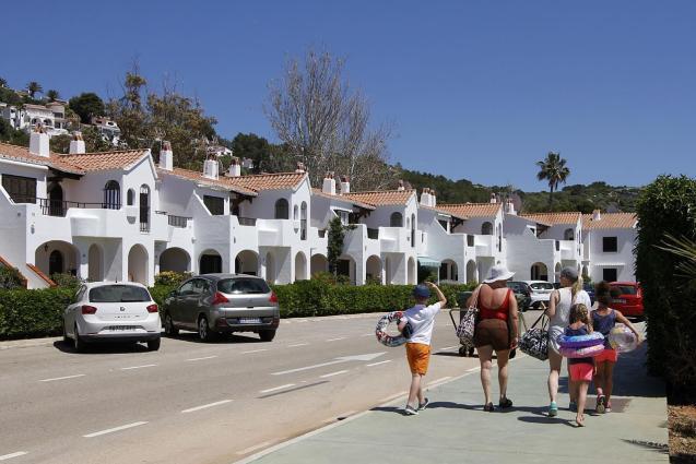 Tourists in Menorca