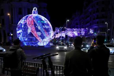 Ceremony for turning on the Christmas lights in Madrid.