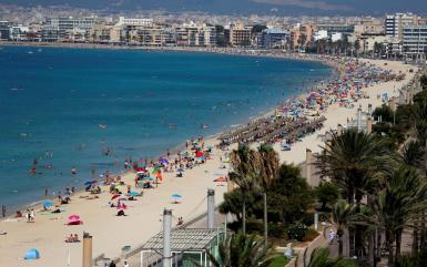 El Arenal beach in Mallorca.