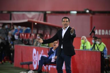 Real Mallorca's coach Luis Garcia Plaza.