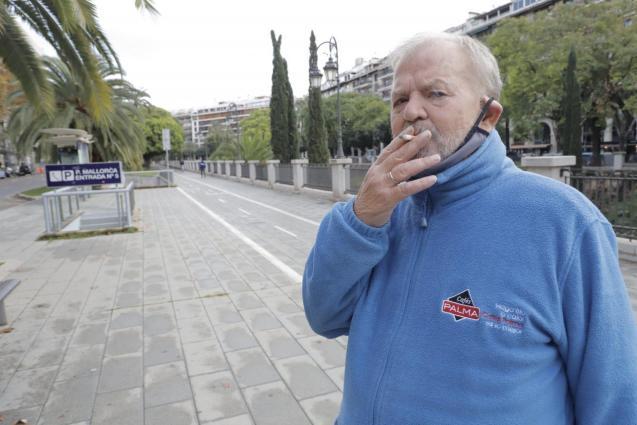 Smoker in Palma, Mallorca