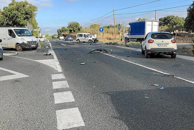 Road accident in Mallorca