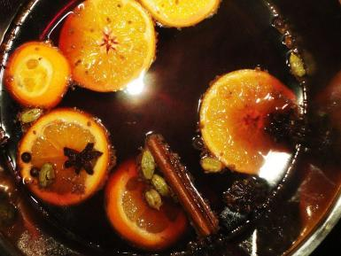 Mulled wine: a traditional drink during winter, especially around Christmas.