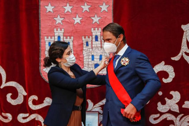Rafa Nadal get the decoration of the Grand Cross of the Order of May Two