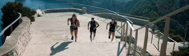 The athletes ( Gabi,Kristof and Jacqui)