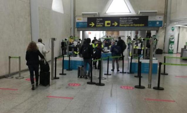 PCR controls at Palma Airport.