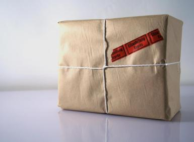 messenger package christmas gift.
