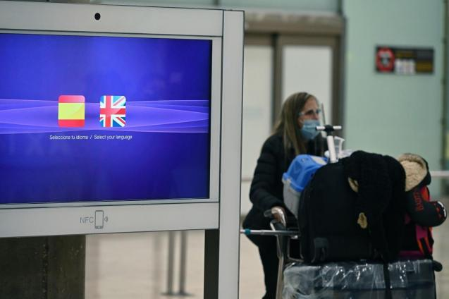 Passenger arriving at Spanish airport