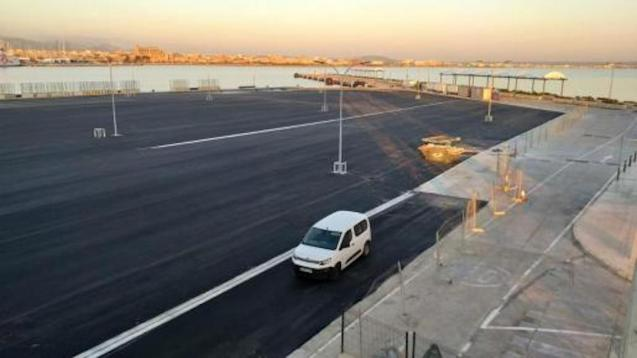The new Esplanade on Ponent Nord Pier in Palma.