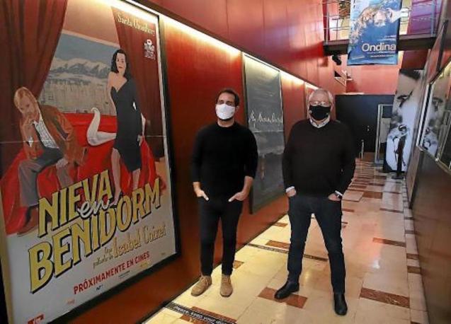 Javier Pachón y Rafael Goberna at CineCiutat in Palma.