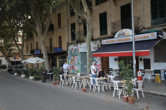 Terraces in Plaza Patines, Palma Mallorca