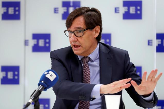 Spain's health minister, Salvador Illa