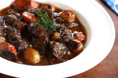 A hearty Beef Bourguignon.