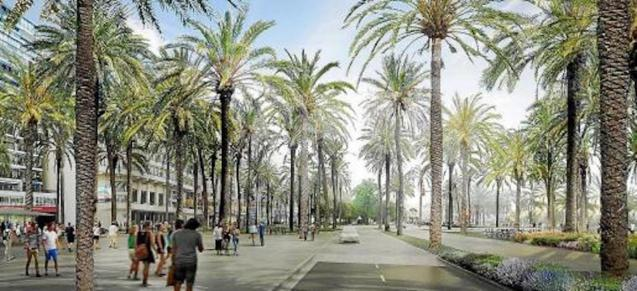 Graphic of Paseo Marítimo finished project.
