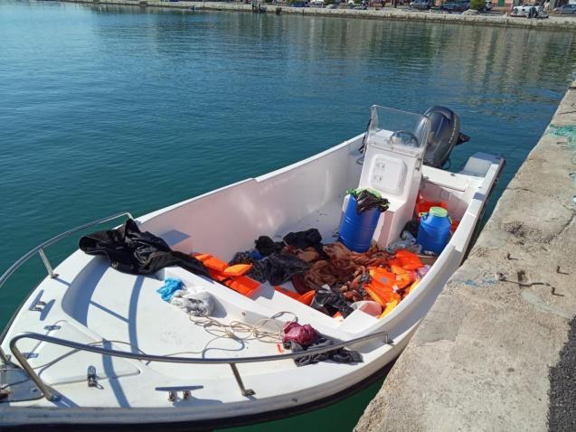 A migrant boat, Mallorca