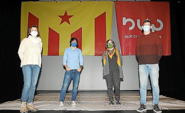Representatives of the Bloc d'Unitat Popular de Mallorca