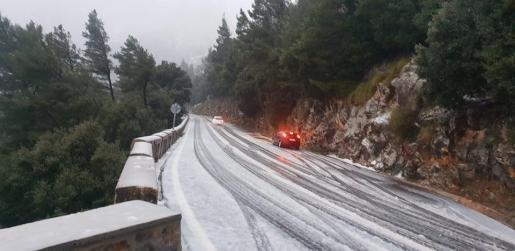 Snow in Mallorca on New Year's Day