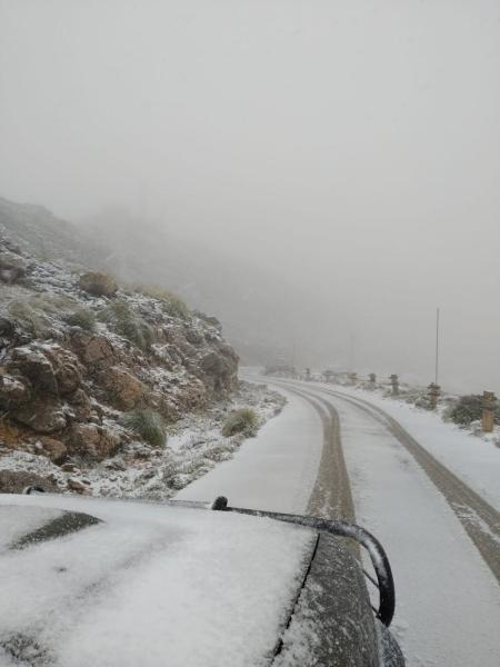More snow is seen on the roads