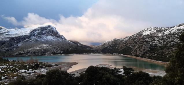 Snow in Mallorca's Tramuntana Mountains