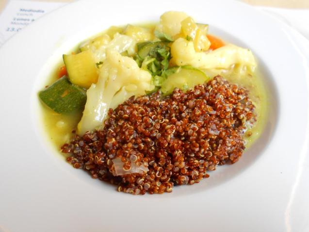 The quinoa and vegetables at Bon Lloc