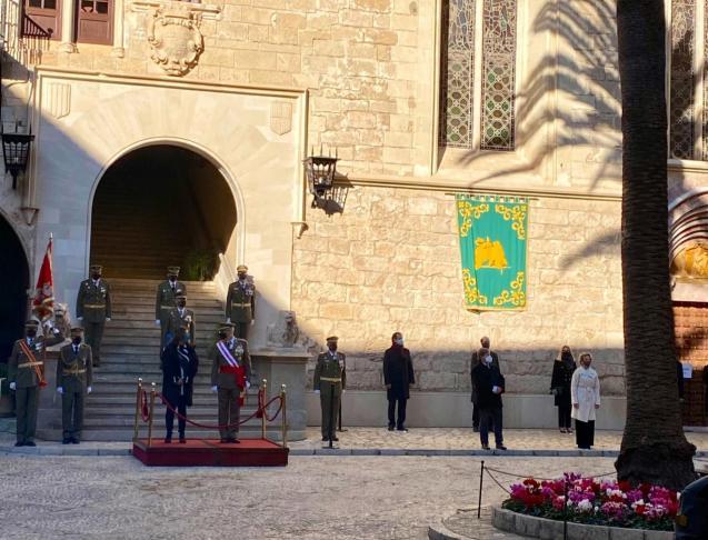 Ceremony for the Pascua Militar in Palma, Mallorca