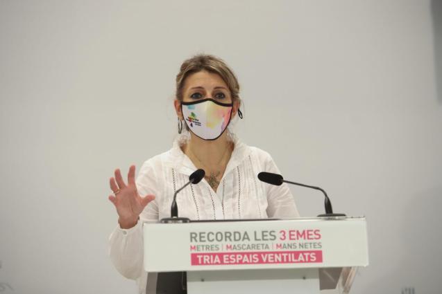 Spain's employment minister Yolanda Diaz