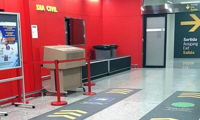 Palma Airport Arrivals Hall.