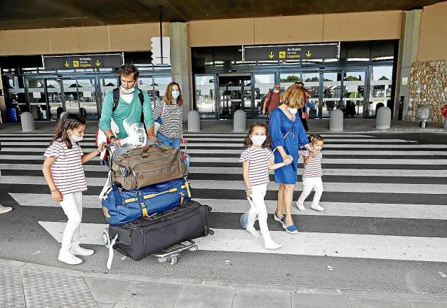 Passengers at Mahon Airport, Menorca