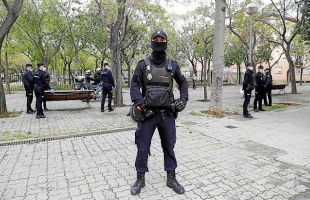 National Police in Son Gotleu, Palma.