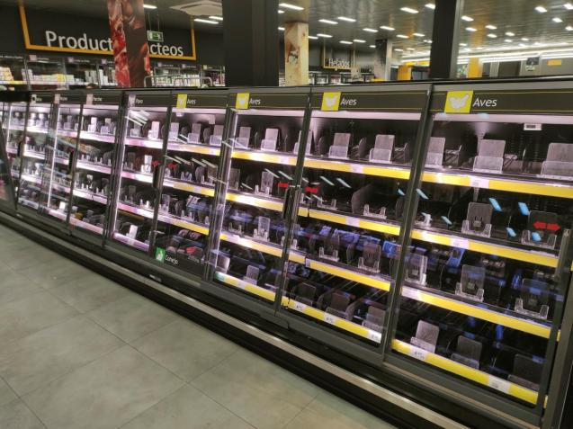 Empty supermarkets after opening