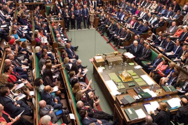 The House of Commons during a stormy Brexit debate