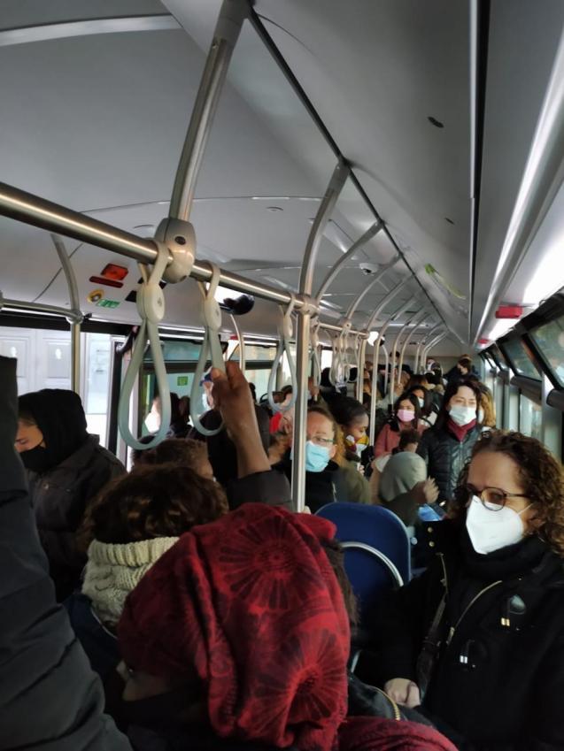 Bus overcrowding in Palma, Mallorca