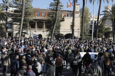 Palma town hall says that protests can cause more infections.