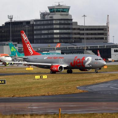 Jet2 at Gatwick airport.