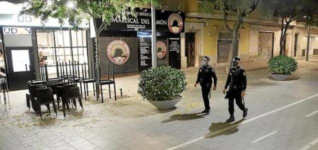 Palma under curfew.