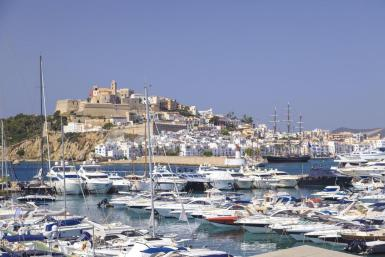 Ibiza, where coronavirus cases are increasing.