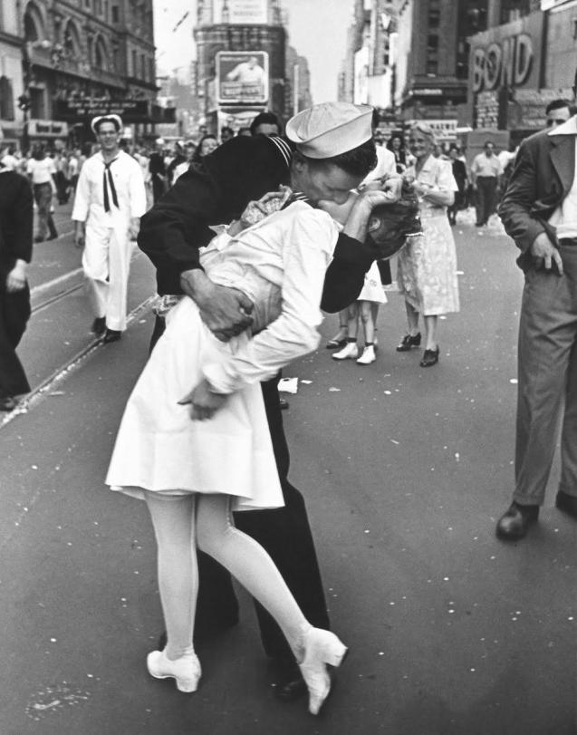 Eisenstaedt's photo of the American sailor kissing a nurse in Time Square made the cover of LIFE Magazine