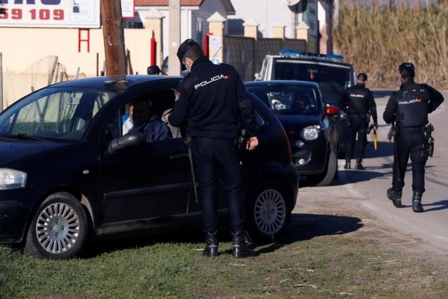Massive police operation.