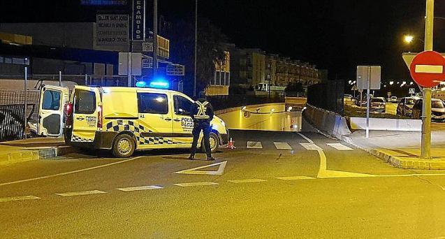 Police in Ibiza.