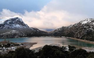 Snow on the Sierra of Tramuntana