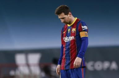 Messi gets his marching orders.
