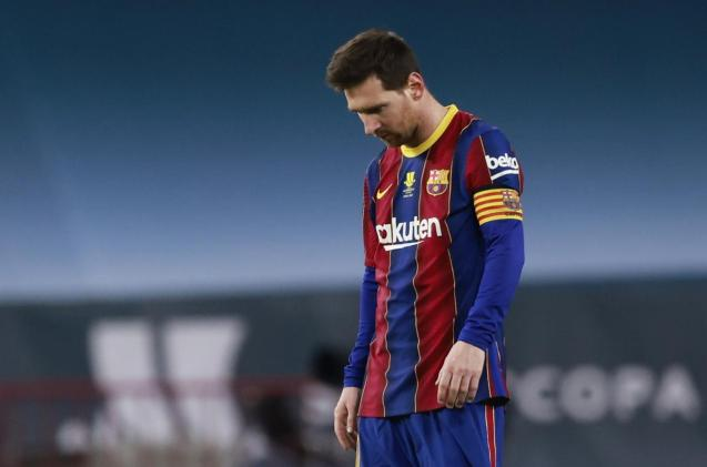 Messi sees red.